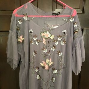 NWT Lane Bryant sheer tunic with camisole